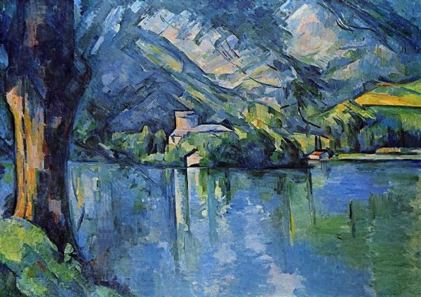 Cezanne, Paul: Lake of Annecy. Landscape/Scenic Fine Art Print/Poster. Sizes: A4/A3/A2/A1 (001026)